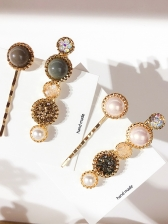 Fashion Pearl Rhinestone Hair Clip Sets