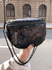 Graduated Color Fish Scale Sequins Shoulder Bag