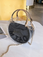 Transparent Letter Crossbody Bag With Inner Pouch