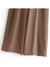 Off Shoulder Solid Backless Wide Leg Women Jumpsuit