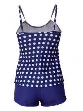 Euro Dot Printed Ruffles Women Swimsuit