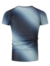 Gradient Color Short Sleeve Mens T-Shirt