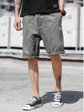 Summer Solid Half-Length Short Pants