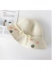 Beach Flower Design Foldable Straw Hat