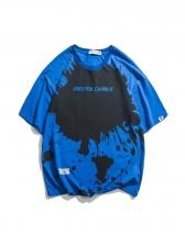 Graffiti Letter Printed Loose T Shirts