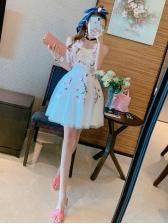 Princess Style Stereo Flower Gauze Sweet Party Dress