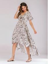 Fresh V Neck Big Swing Maxi Floral Dress