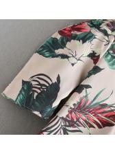 V-neck Two Button Floral Women Blouse Design