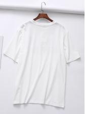Stylish Leopard Letter Printed Women T-shirt Design