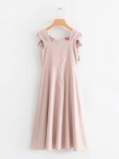 Fashion Embroidery Plaid Sleeveless Dress