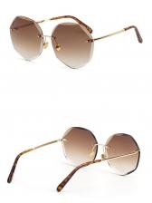 Polygon Non-Frame Mixed Color Lens Women Sunglasses