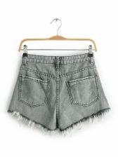 Individual Tassel Summer Frame Denim Shorts