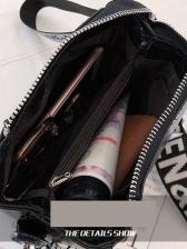 Large Capacity Letter Bucket Bag For Women