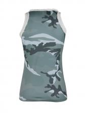 Euro Tassel Patchwork Camouflage Women Tank