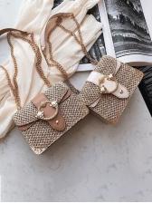 Fashion Colorblock Metal Hasp Crossbody Bag