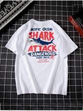 Fashionable Crew Neck Printed Loose T-shirt