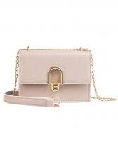 Vintage Style Solid Square Crossbody Bag