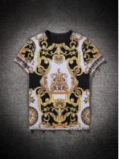 Summer Crew Neck Printed T-shirt