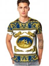 Stylish Animal Print Short Sleeve Shirt For Men