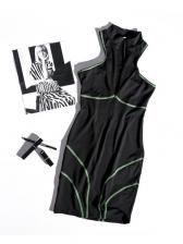 Sexy Zipper Up V Neck Sleeveless Bodycon Dress