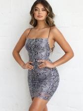 Sexy Backless Serpentine Sleeveless Bodycon Dress