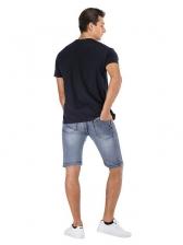 Vintage Destroyed Denim Short Pants