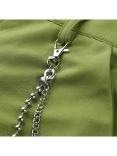Fashion Chain Decor Wide Leg Pants For Women
