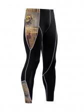 Printed Long Sleeve Tight Men Sport Wear Sets
