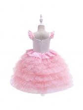 Cute Animal Design Girl Fluffy Gauze Dress