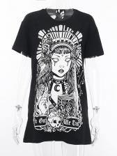 Streetwear Punk Printed Women T-shirt Design
