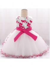 Beading Embroidered Studded Girl Gauze Dress