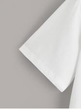 Simple Design Printed White T-shirt Design