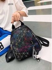 Geometric Printed Mini Backpack For Women