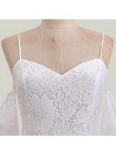 Sexy V Neck Off The Shoulder White Pencil Dress