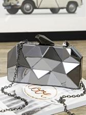 Irregular Geometric Shape Crossbody Bag For Evening