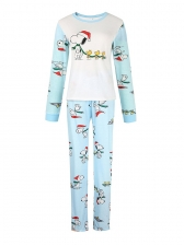 Snoopy Print Patchwork Family Cotton Pajamas Sets