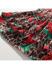 Leopard Rose Sleeveless Girl Ruffles Dress