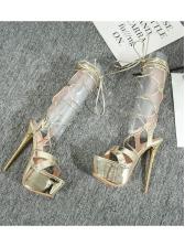 Roman Lace Up Platform Stiletto Heels