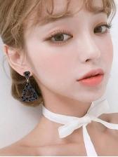 Asymmetric Triangle Rhinestones Women Earrings