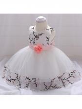 Embroidered Stereo Flower Girl Gauze Dress
