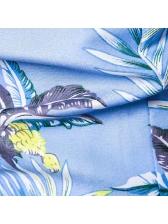 Summer Turndown Collar Printed Short Sleeve Shirt