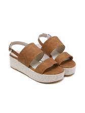Korean Style Solid Platform Wedge Sandals