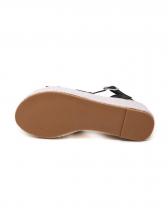 Solid Color Weaving Platform Wedge Sandals