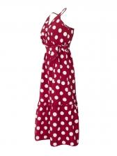 Hot Sale Bohemian Polka Dot Straps Vacation Dress