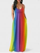 Bohemian Sleeveless Tie Dye Maxi Dress