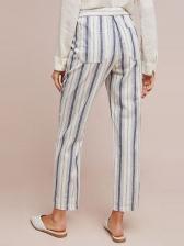 Casual Drawstring Striped Long Pants