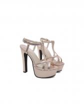 Roman Style Glitter Platform Pumps Heels
