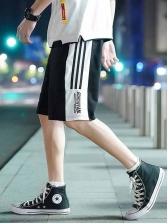Casual Contrast Color Short Pants For Men