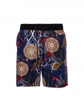 Casual Irregular Contrast Color Short Pants