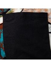 Summer Drawstring Contrast Color Loose Short Pants